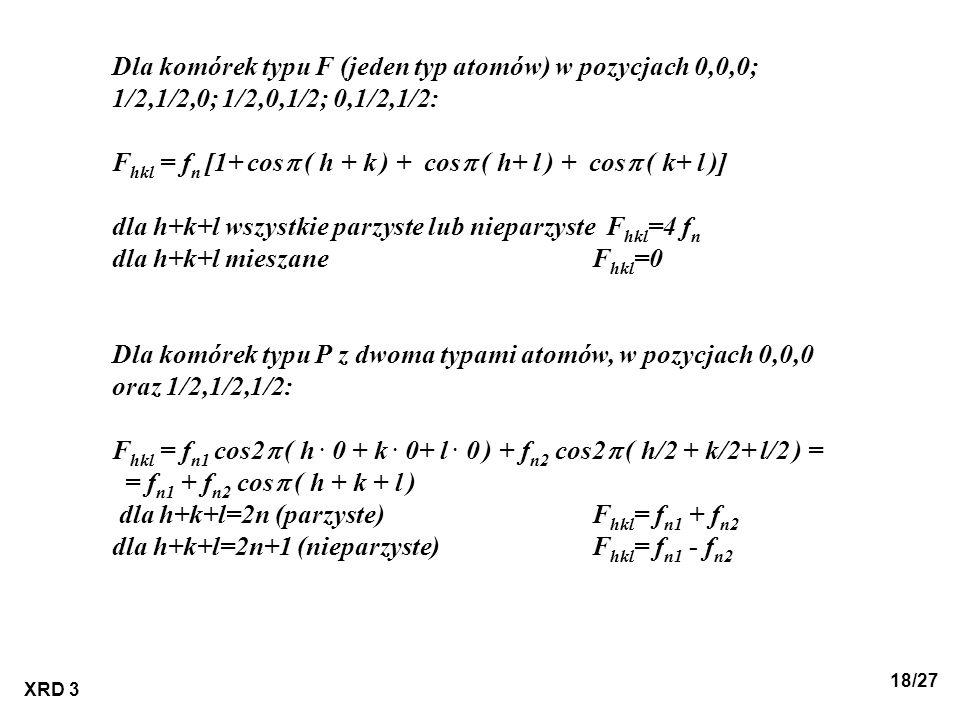 Fhkl = fn [1+ cosp ( h + k ) + cosp ( h+ l ) + cosp ( k+ l )]